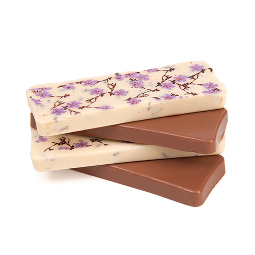 ... / Artisan Food / Chocolate / Milk Chocolate Lavender Bars, 2 x 20g